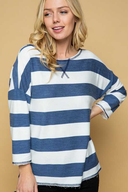 LOOSE FIT STRIPE TUNIC TOP